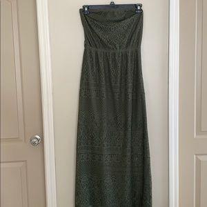 Brand New Strapless Green Dress!